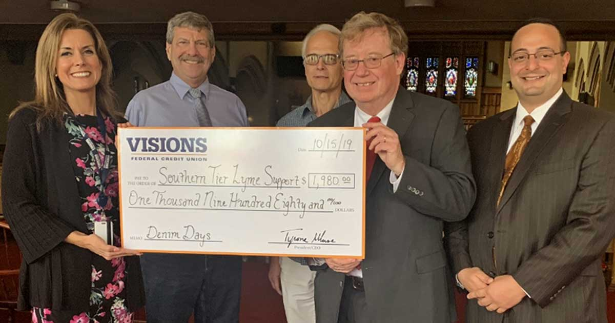 Visions Federal Credit Union supports The Southern Tier Lyme Support